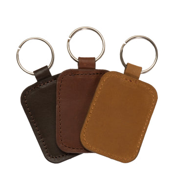 Leather Keychain - Square