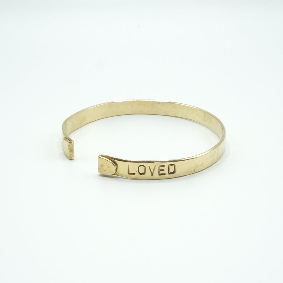 Live Loved Hammered Cuff