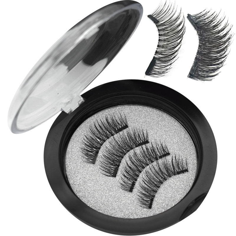2 Pairs 3D Magnetic Natural False Eyelashes