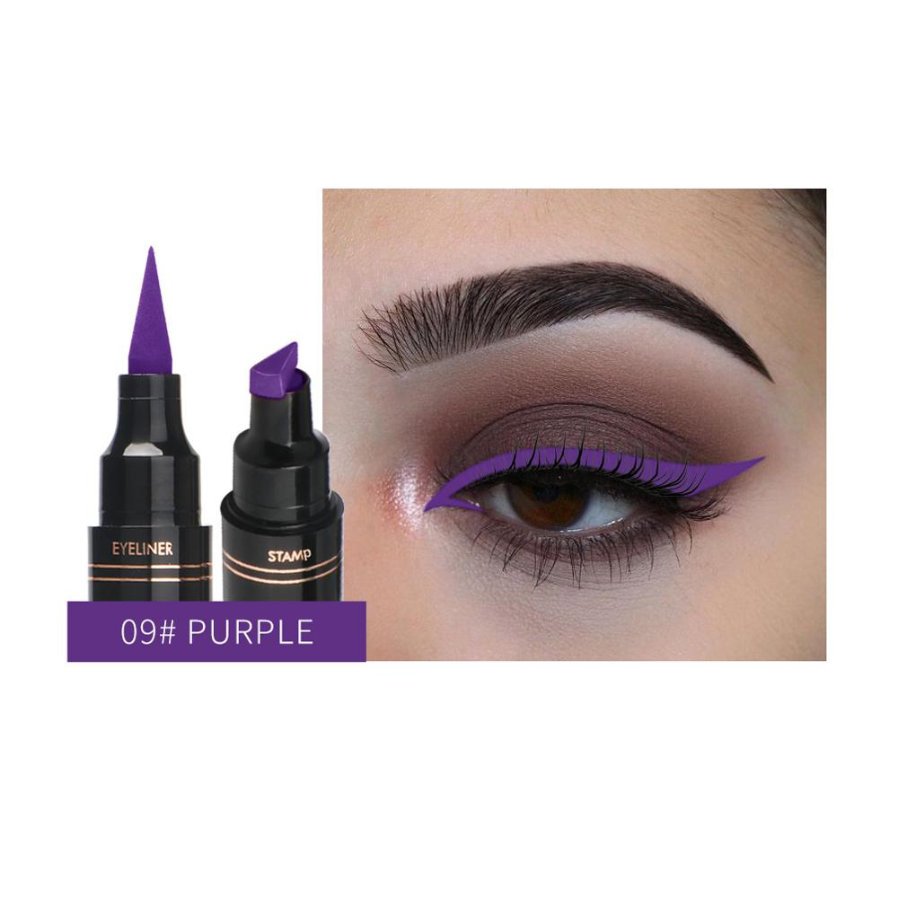 Colorful Double-ended Stamp Eyeliner Pen