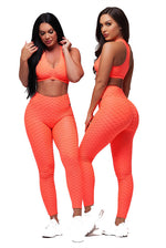 Textured Anti-Cellulite High Waist Booty Push Up Leggings Sets