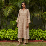 Load image into Gallery viewer, Almond Zari Jaal Embroidered Tissue Kurta