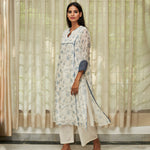 Load image into Gallery viewer, Azure Vintage Print Kurta Set