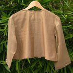 Load image into Gallery viewer, Beige Embroidered Gathered Blouse