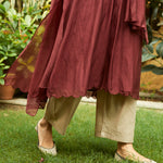 Load image into Gallery viewer, Burgundy Pintuck Kurta