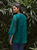 Load image into Gallery viewer, Emerald Pintuck Kurti