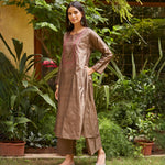 Load image into Gallery viewer, Hazel Embroidered Silk Kurta