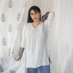 Load image into Gallery viewer, Ivory and Slate Kurti