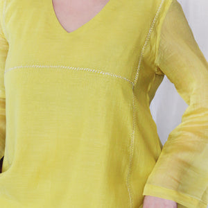 Lemon Basic Kurta