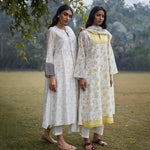 Load image into Gallery viewer, Lemon Vintage Print Kurta Set