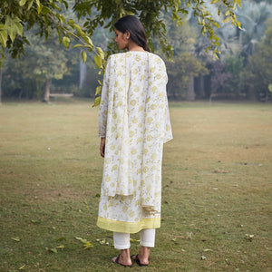 Lemon Vintage Print Kurta Set