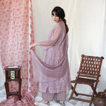 Load image into Gallery viewer, Lilac Woven Dots Kurta Set