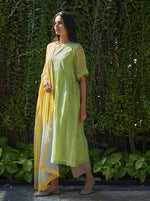 Load image into Gallery viewer, Lime Embroidered Kurta