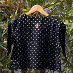 Load image into Gallery viewer, Midnight Black Bandhani Embroidered Blouse
