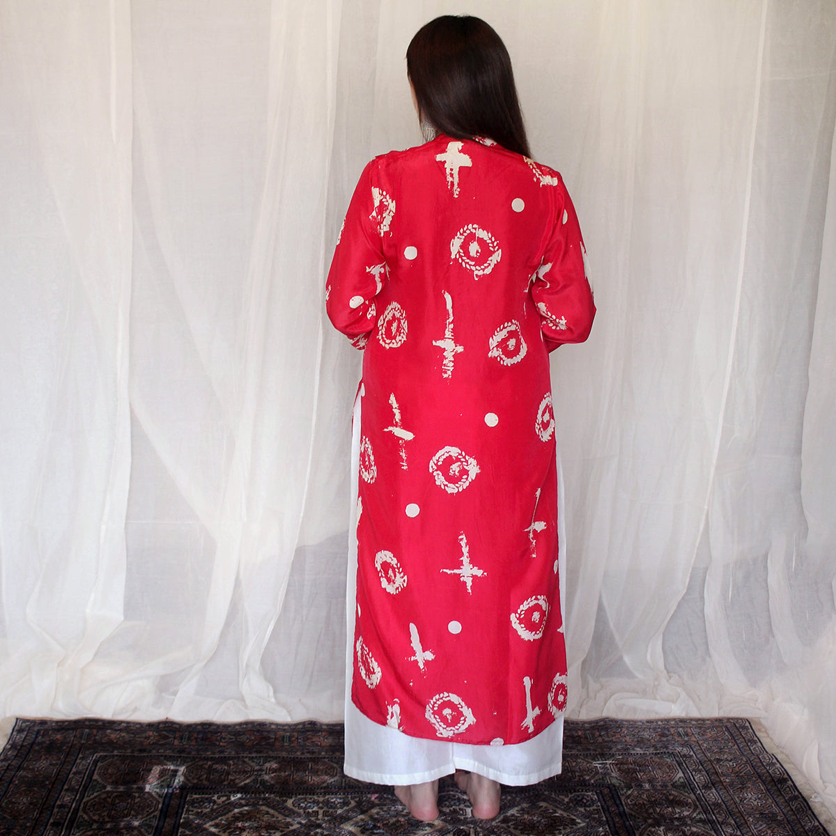 Scarlet Abstract Print Kurta