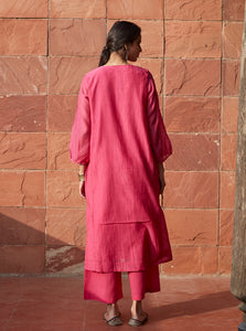 Rose Pink Embroidered Kurta Set