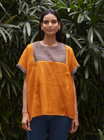 Load image into Gallery viewer, Saffron and Slate Kurti