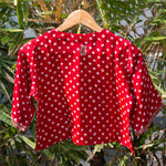 Load image into Gallery viewer, Scarlet Bandhani Embroidered Blouse