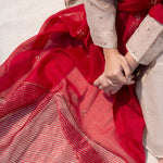 Load image into Gallery viewer, Scarlet Chanderi Zari Dupatta