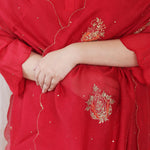 Load image into Gallery viewer, Scarlet Embroidered Dupatta