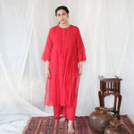 Load image into Gallery viewer, Scarlet Pintuck Kurta