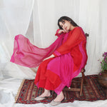 Load image into Gallery viewer, Scarlet and Fuchsia Kurta Set