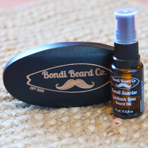 Boar Brush + 15ml Beard Oil Combo