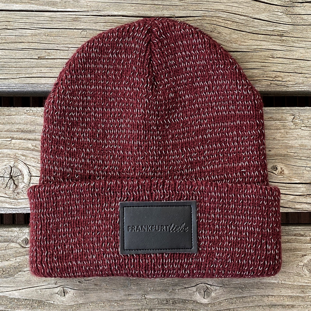 Frankfurtliebe Beanie Reflection Burgundy