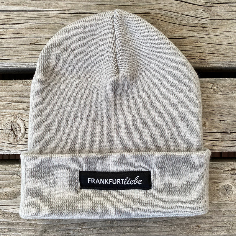 Frankfurtliebe Beanie Casual Light Grey