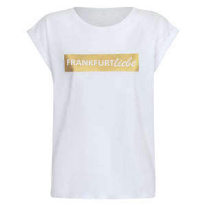 Frankfurtliebe T-Shirt Woman white luxury gold