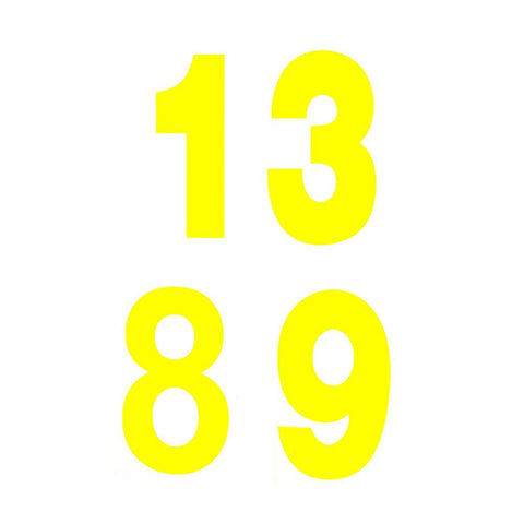Day Glo Race Numbers