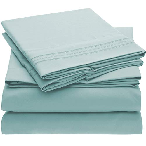 Mellanni Bed Sheet Set - Brushed Microfiber 1800 Bedding - Wrinkle, Fade, Stain Resistant - 3 Piece