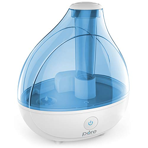 Pure Enrichment MistAire Ultrasonic Cool Mist Humidifier - Premium Humidifying Unit with Whisper-Quiet Operation, Automatic Shut-Off and Night Light Function - Lasts Up to 16 Hours