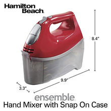 Load image into Gallery viewer, Hamilton Beach 6-Speed Electric Hand Mixer, Beaters and Whisk, 250W with Snap-On Storage Case, Red