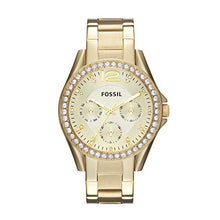 Load image into Gallery viewer, Fossil Women's Riley Quartz Stainless Multifunction Watch, Color: Gold (Model: ES3203)
