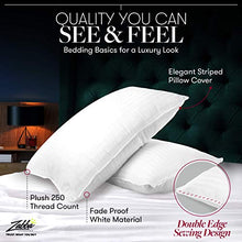 Load image into Gallery viewer, Beckham Hotel Collection Gel Pillow (2-Pack) - Luxury Plush Gel Pillow - Dust Mite Resistant & Hypoallergenic