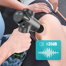 Load image into Gallery viewer, Massage Gun for Athletes, Portable Body Muscle Massager Professional Deep Tissue Massage Gun for Pain Relief with 6 Massage Heads 20 Speed High-Intensity Vibration Rechargeable Legiral Le3 Massage Gun