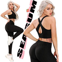 Load image into Gallery viewer, SEASUM Women's High Waist Yoga Pants Tummy Control Slimming Booty Leggings Workout Running Butt Lift Tights XS