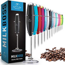 Load image into Gallery viewer, Zulay Original Milk Frother Handheld Foam Maker for Lattes - Whisk Drink Mixer for Coffee, Mini Foamer for Cappuccino, Frappe, Matcha, Hot Chocolate by Milk Boss