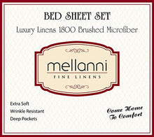 Load image into Gallery viewer, Mellanni Bed Sheet Set - Brushed Microfiber 1800 Bedding - Wrinkle, Fade, Stain Resistant - 3 Piece