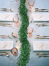 Load image into Gallery viewer, DearHouse 12 Strands Artificial Ivy Leaf Plants Vine Hanging Garland Fake Foliage Flowers Home Kitchen Garden Office Wedding Wall Decor, 84 Feet, Green
