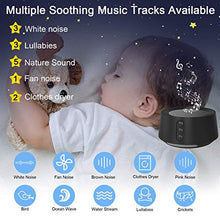 Load image into Gallery viewer, Letsfit White Noise Machine with Adjustable Baby Night Light for Sleeping, 14 High Fidelity Sleep Machine Soundtracks, Timer and Memory Feature, Sound Machine for Baby, Adults, Home and Office
