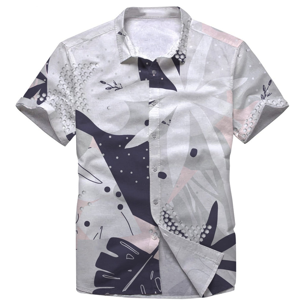 Pollogie™ Abstract Flower Button Shirt