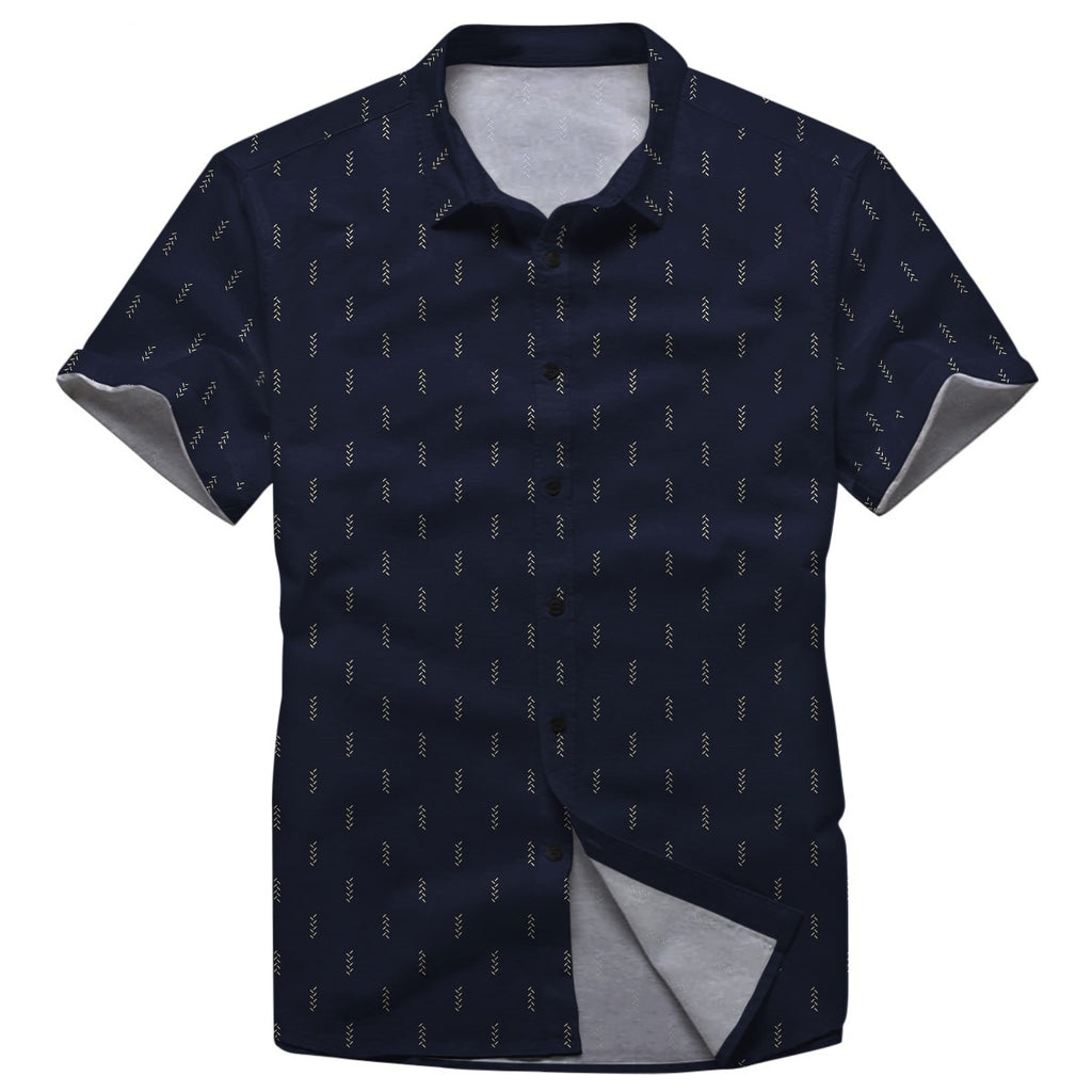 Pollogie™ All Over Pattern Button Shirt