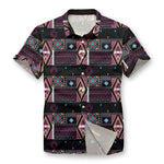 Pollogie™ Aztec Pattern Button Shirt