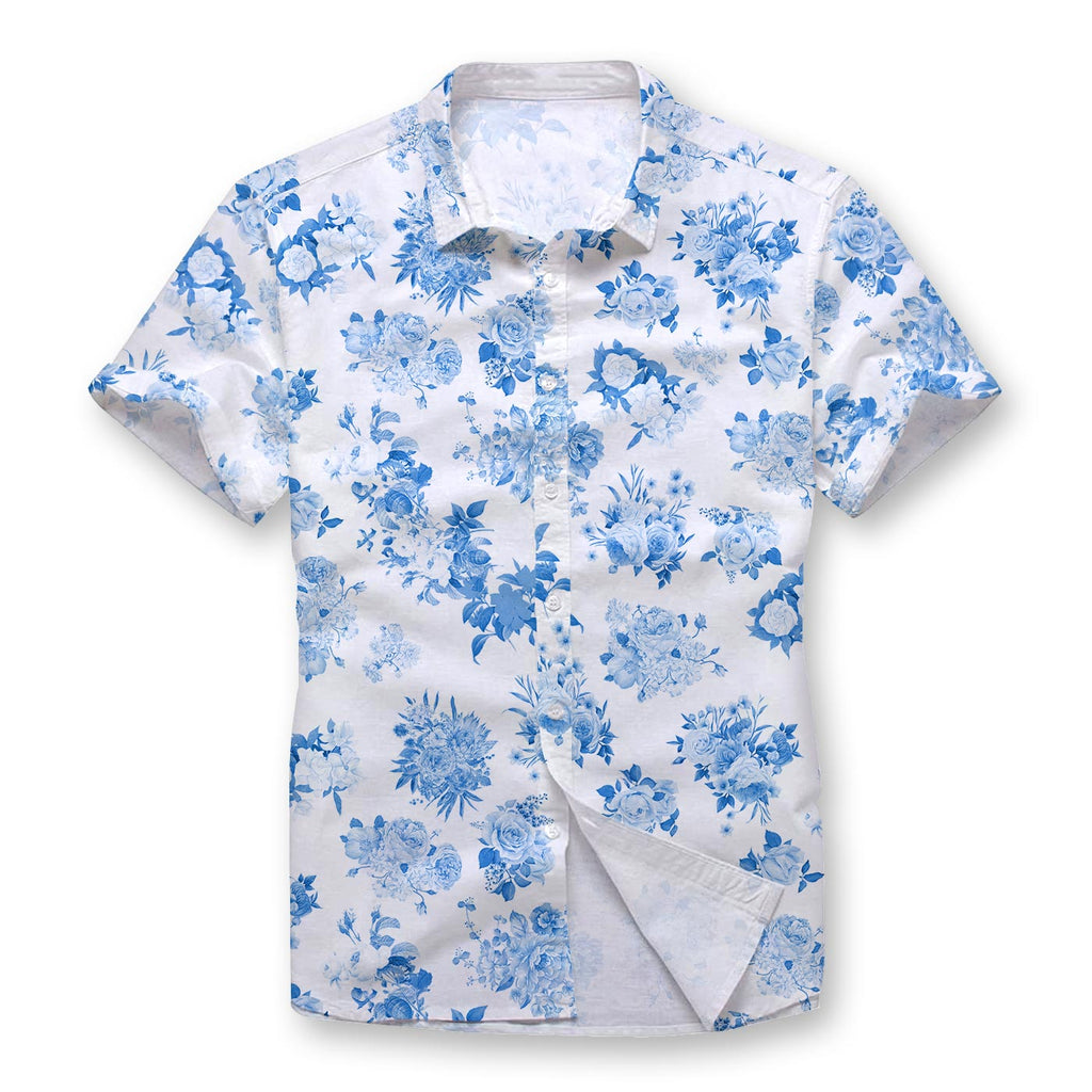 Pollogie™ Flowers Button Shirt