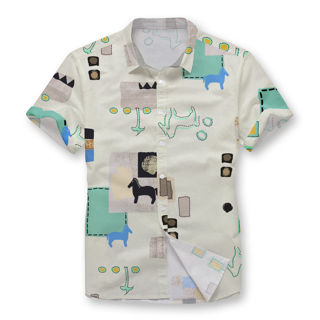 Pollogie™ Modern Hieroglyphics Button Shirt