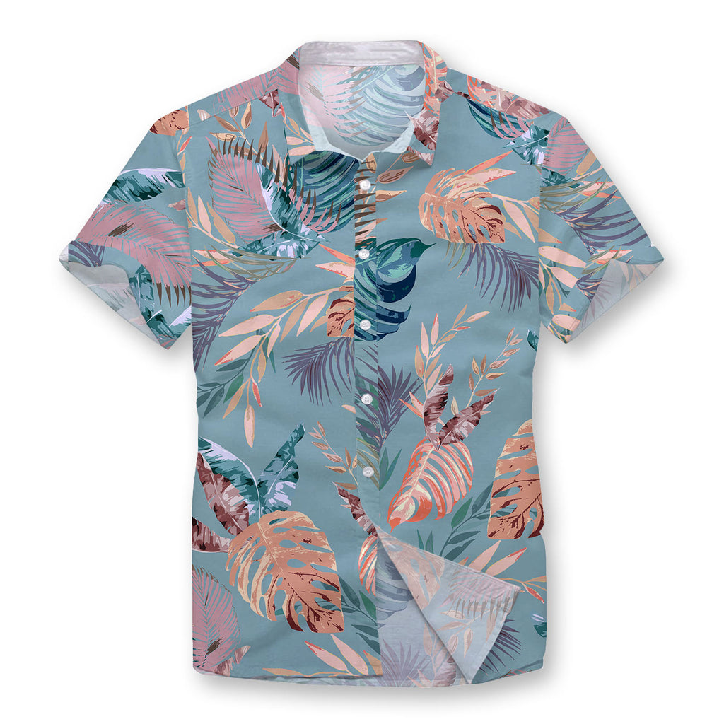 Pollogie™ Chromatic Hibiscus Button Shirt