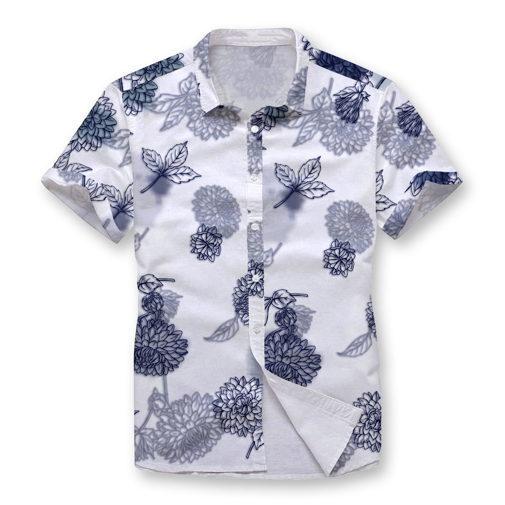 Pollogie™ Watercolor Smudge Button Shirt