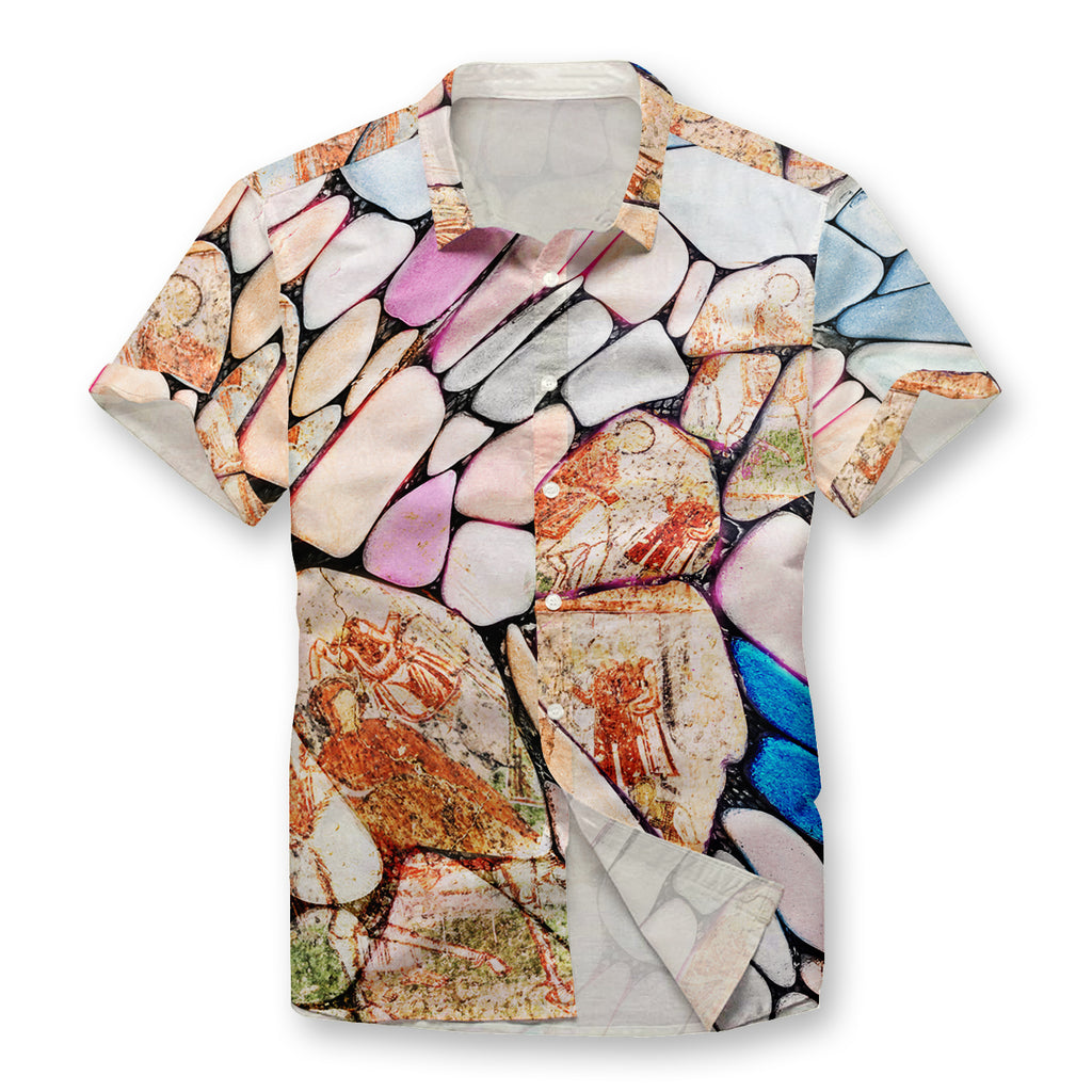 Pollogie™ Cave Mural Button Shirt